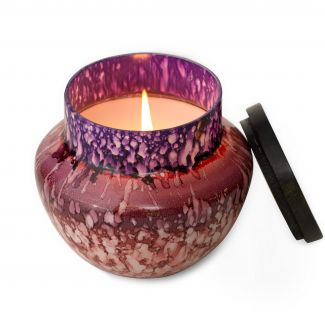 Ginger Patchouli Watercolor Glass Candle