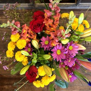 color my world cut bouquet