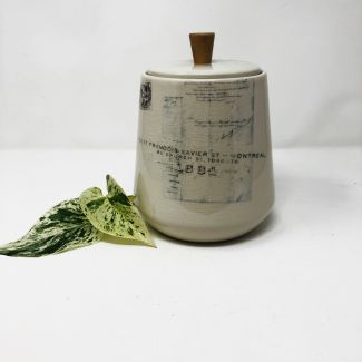 Botanical Print Canister with Lid