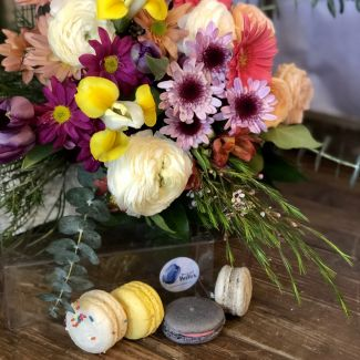 Blooming Garden with French Macarons